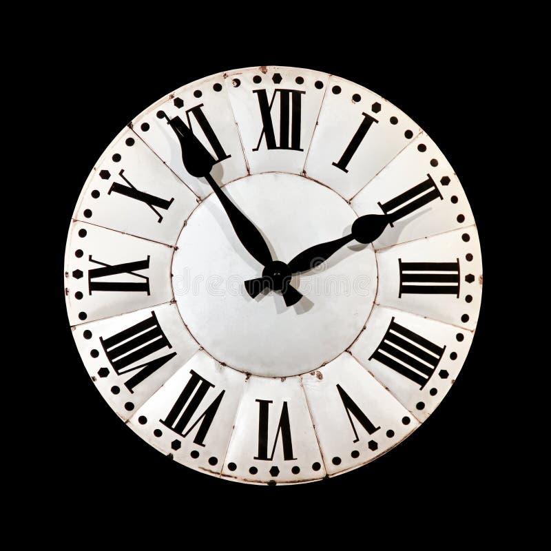 Black retro clock stock photography