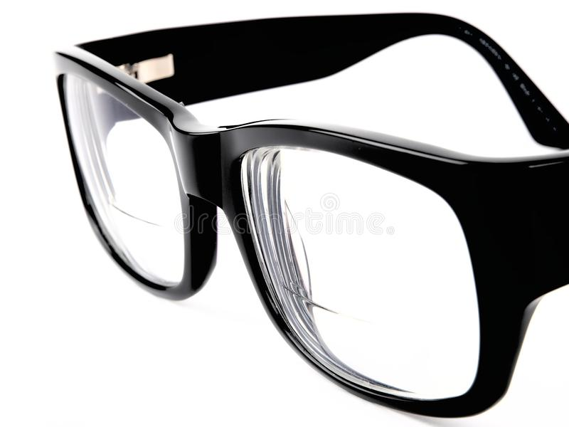 Black retro eyeglasses royalty free stock photo