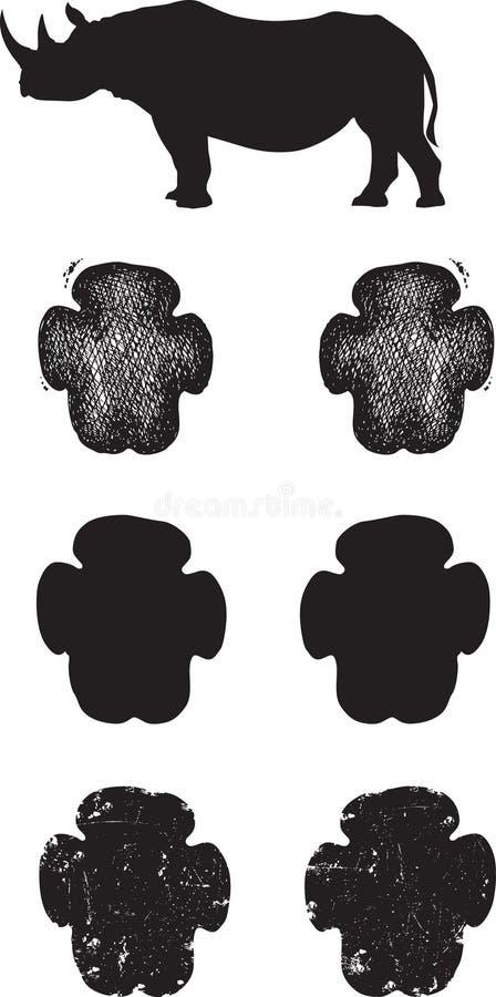 Free Black Rhino Tracks Or Footprints Stock Photos - 30404853
