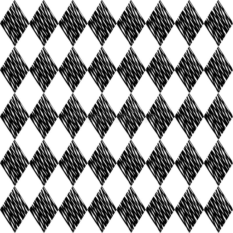Download Black Rhombuses Tessellation On White Background Seamless Surface Pattern Crossed Lines Wallpaper
