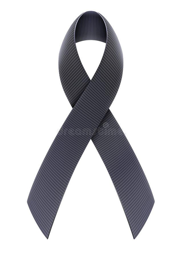 Black ribbon vector illustration