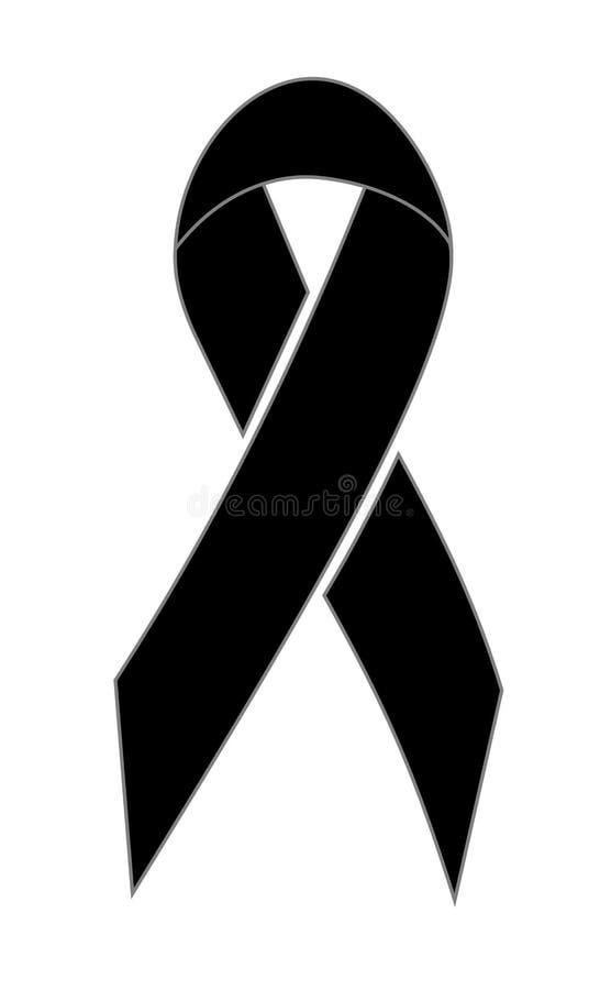Download Black ribbon stock illustration. Image of donate, consideration - 9923609