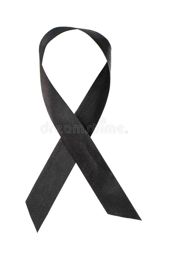 Black ribbon awareness for melanoma and skin cancer. Studio Photo stock images