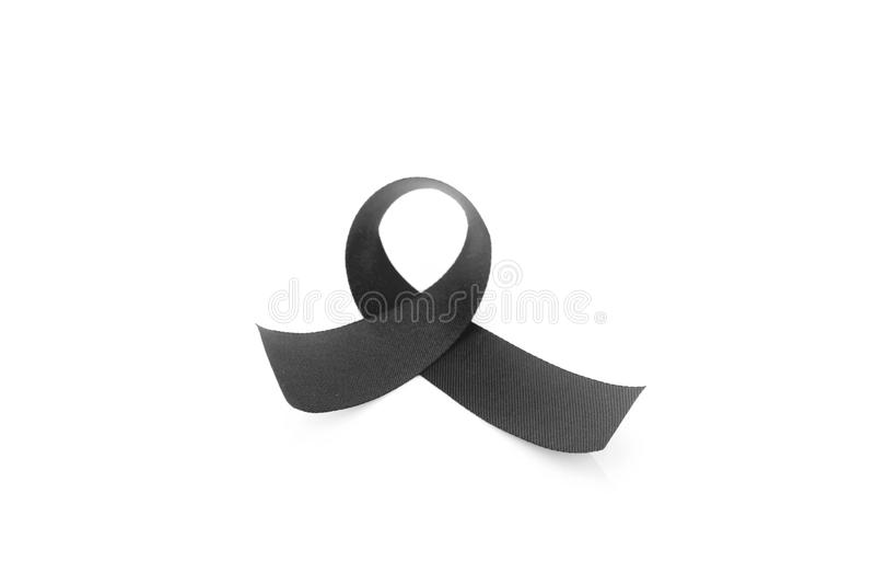 Black Ribbon Symbol For Mourning Stock Image Image Of Icon