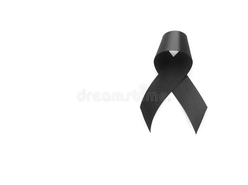 Black Ribbon Symbol For Mourning Stock Image Image Of Melanoma
