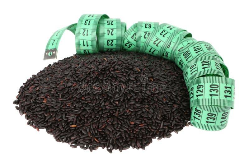 Black Rice And Meter Stock Photos