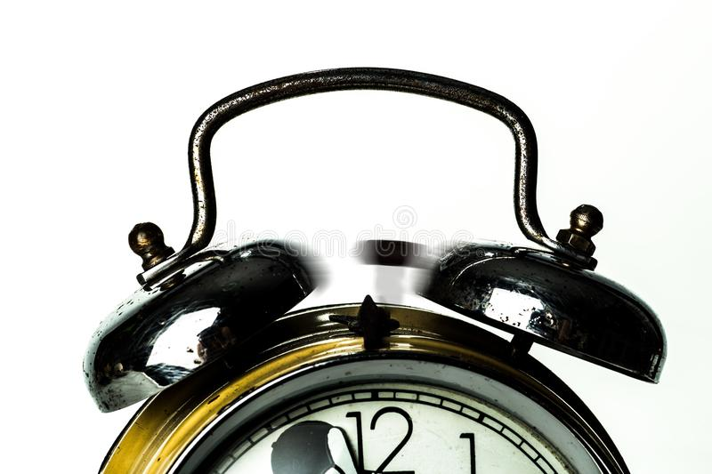 Black Ring Bell Alarm Clock royalty free stock photo