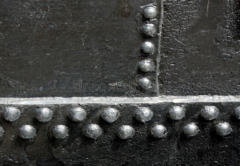Download Black Rivet Joints stock photo. Image of metal, riveted - 12840596