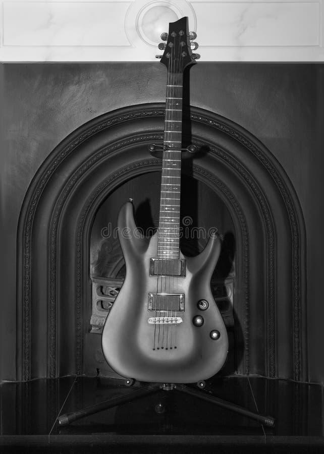 Black Rock Guitar Royalty Free Stock Photography