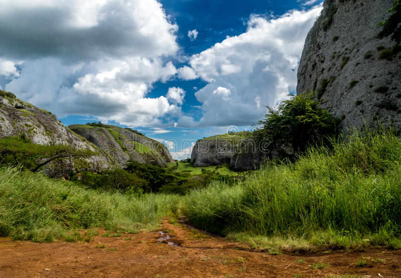 The Black Rocks of Pungo Andongo royalty free stock photos