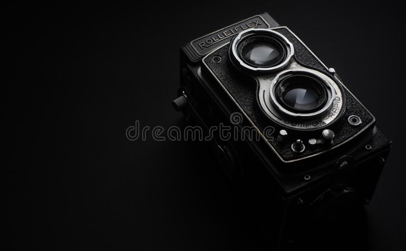 Black Rolleiflex Camera royalty free stock photos