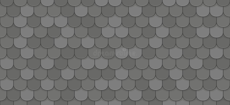 Black roof tiles. Seamless pattern - vector illustration stock illustration