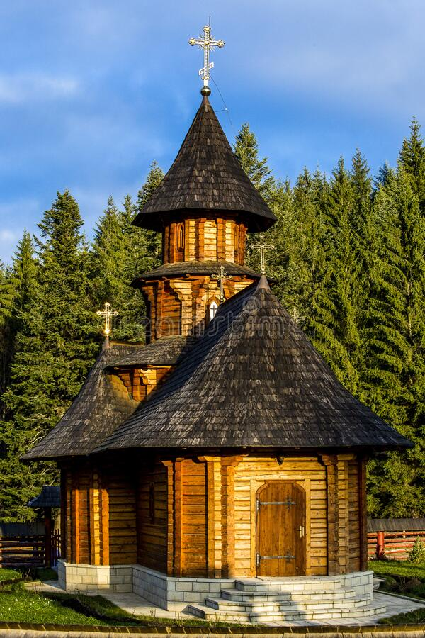Black Roofed Wooden Chapel Free Public Domain Cc0 Image