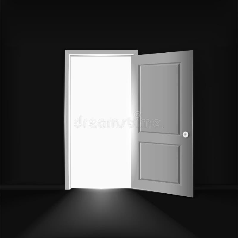 Black Room With Open Door Concept Stock Vector Image 47848634
