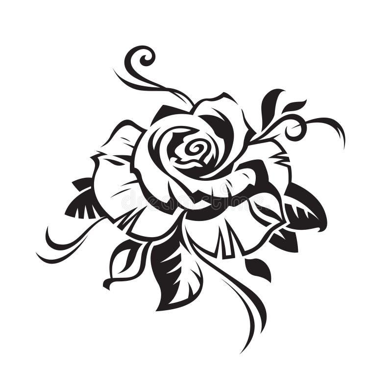 Download Black rose stock vector. Illustration of elegant, tattoo - 15300514