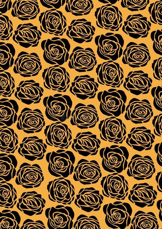 black rose wallpaper royalty free illustration