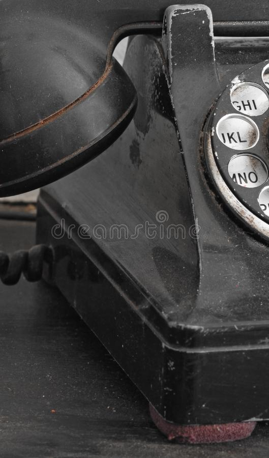 Black Rotary Phone Close Up royalty free stock photo