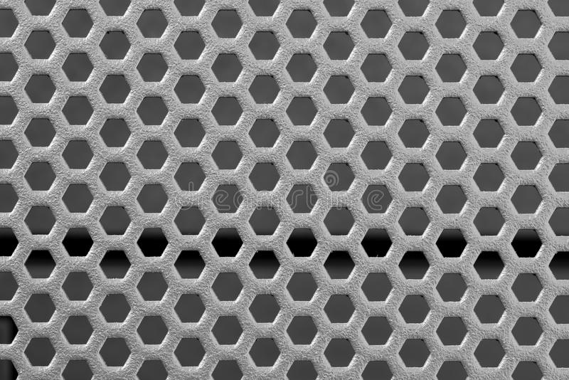 Punched Metal On Black Background Stock Image Image Of
