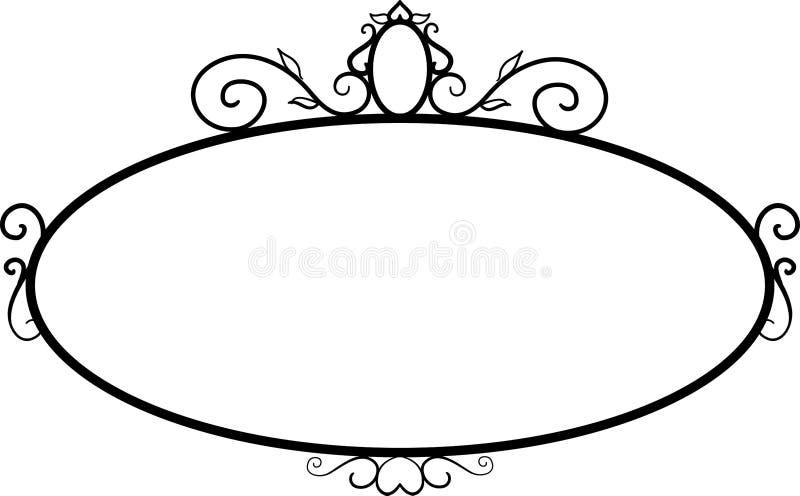 Black round vintage frames, design elements. Sketch hand drawn. Decorative border vector illustration