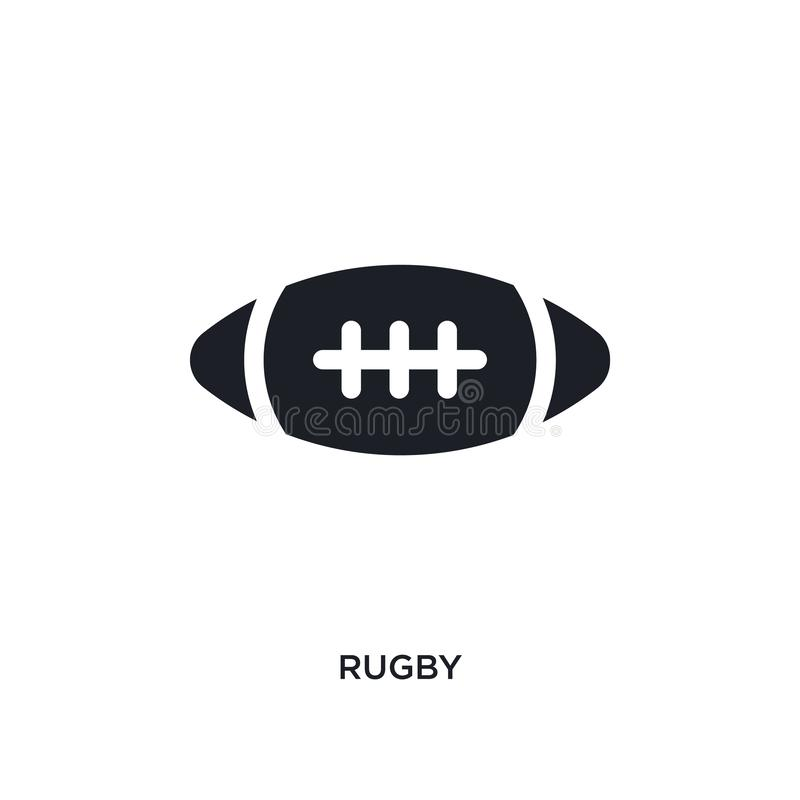 black rugby isolated vector icon. simple element illustration from united states concept vector icons. rugby editable logo symbol stock illustration