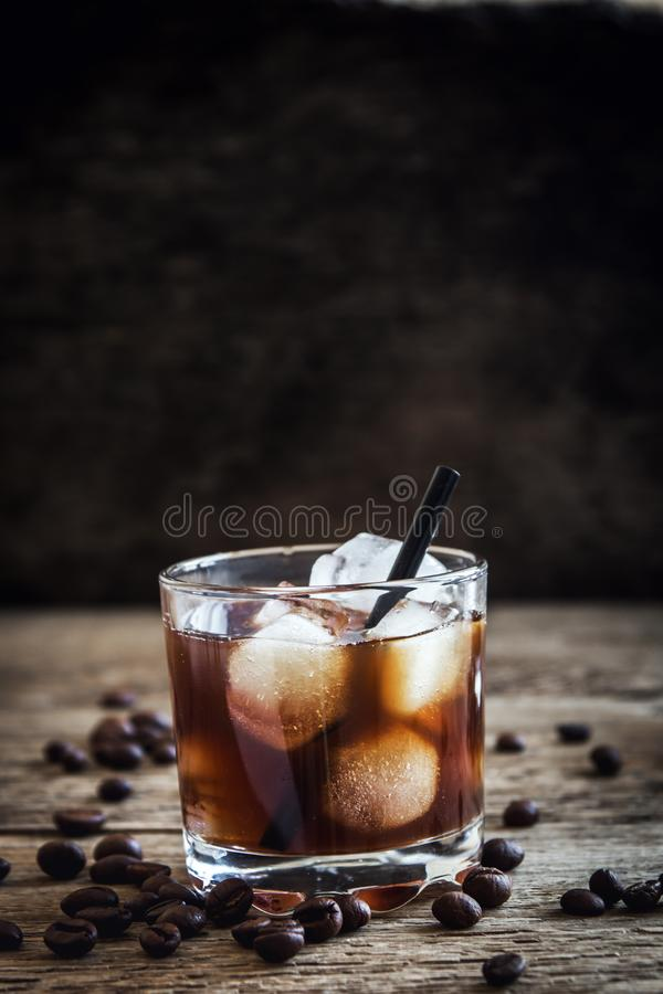 Black Russian Cocktail royalty free stock photos