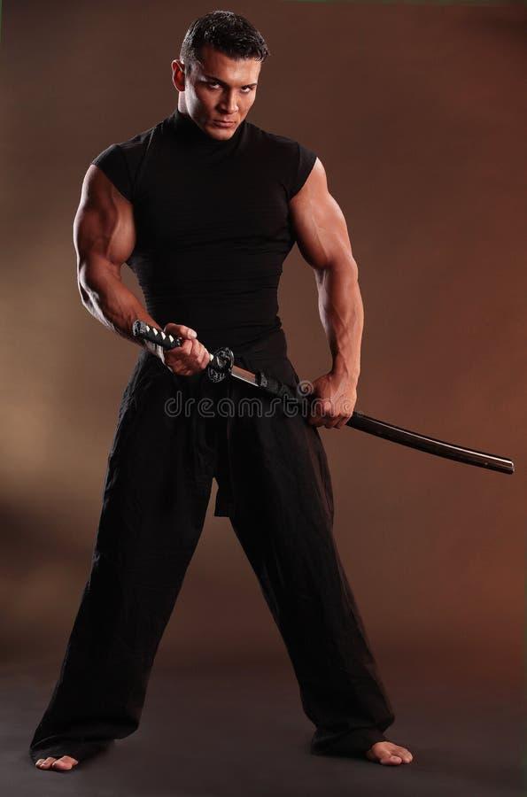 Black samurai stock photography