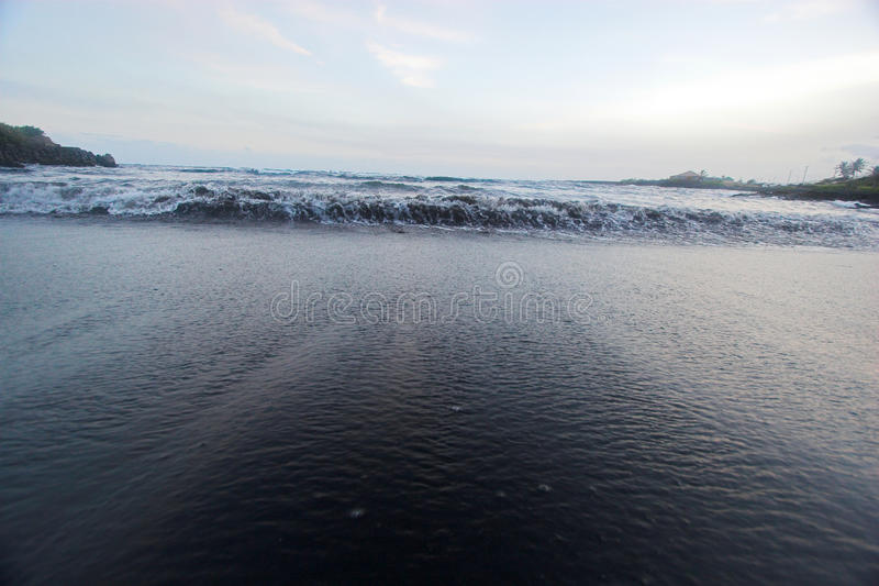 Download Black sand beach stock image. Image of ocean, wave, beach - 10709737