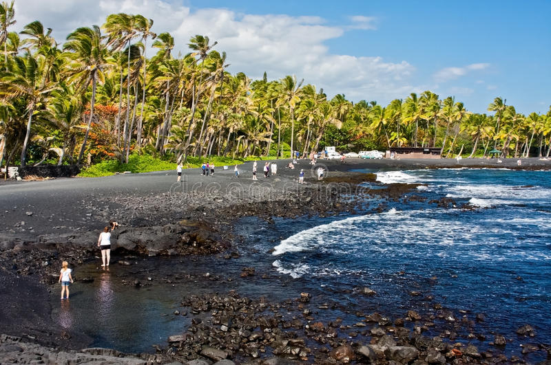 Download Black Sand Beach editorial photography. Image of punalu - 20362342