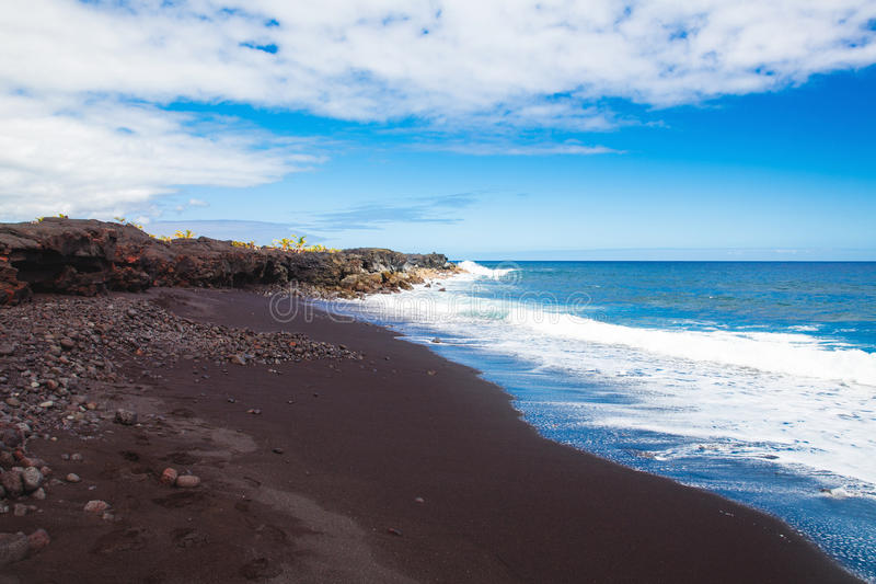 Black Sand Beach royalty free stock image