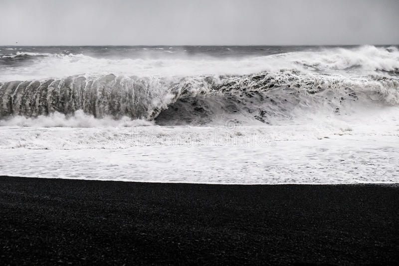 Black Sand Beach - Iceland stock image