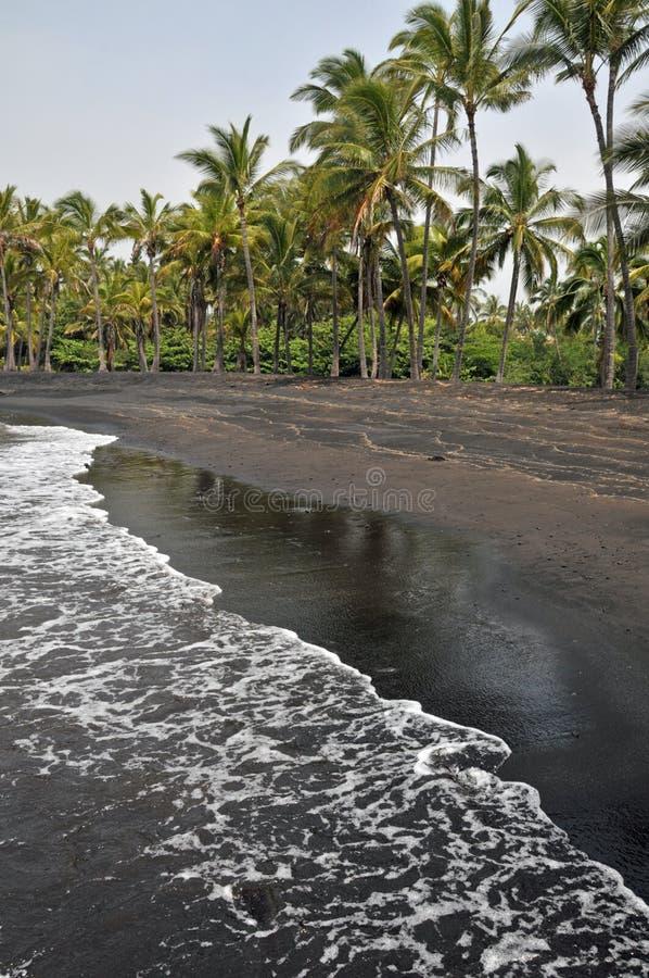 Black Sand Beach On The Island Royalty Free Stock Image