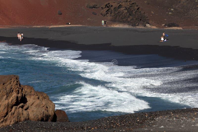 Download Black Sand Beach On Lanzarote Editorial Stock Photo - Image: 22582008