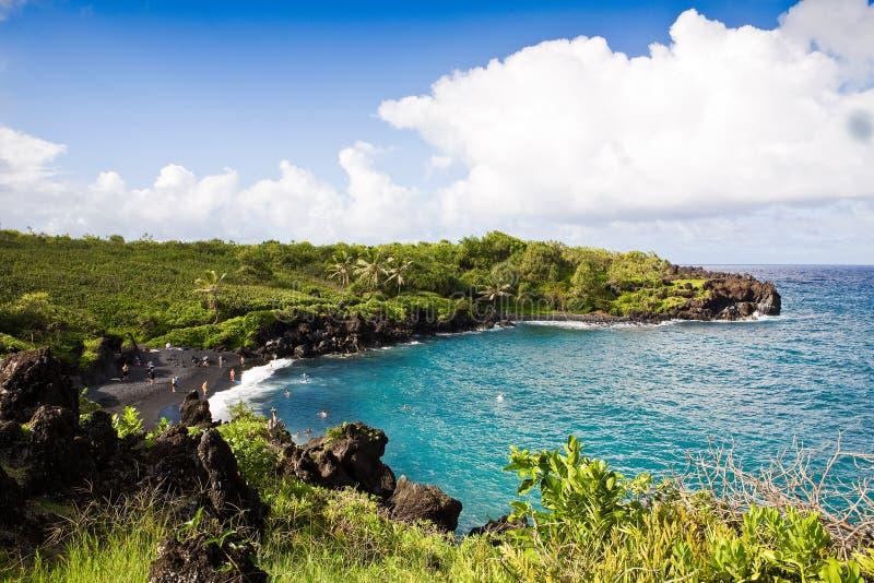 Download Black Sand Beach, Maui stock photo. Image of rocks, pacific - 8774918