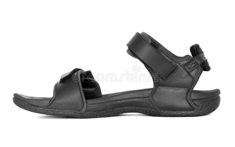Download Black Sandal stock image. Image of horizontal, season - 6474623