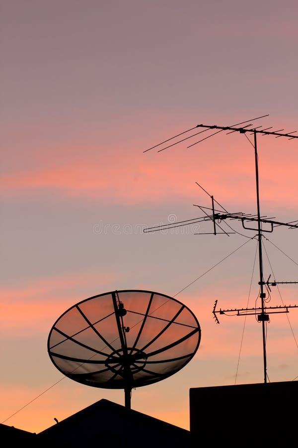 Download Black satellite dish stock image. Image of receive, conveyance - 22071925