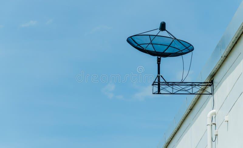 Download Black Satellite Dish On Roof Stock Image - Image: 31608625