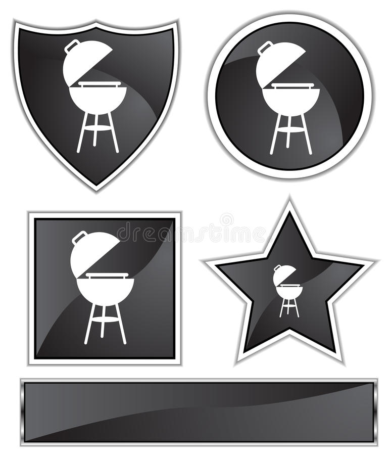 Download Black Satin - BBQ grill stock vector. Image of barbeque - 10220361
