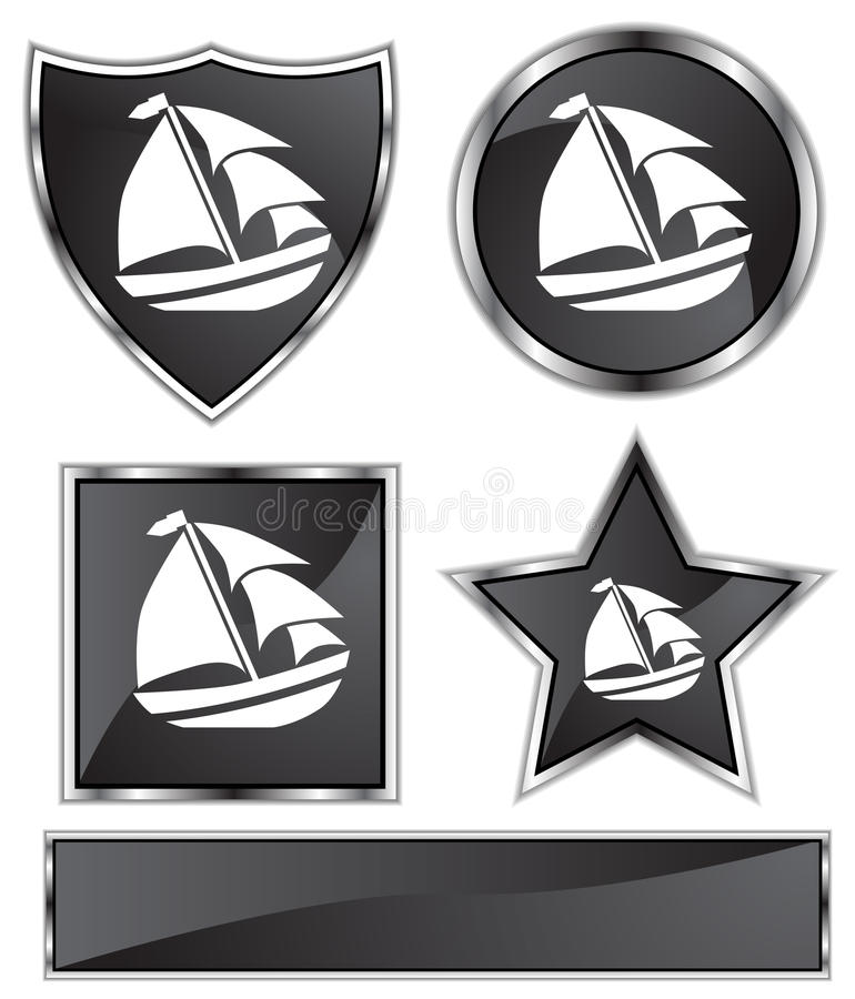 Download Black Satin - Sailboat Royalty Free Stock Images - Image: 10245099