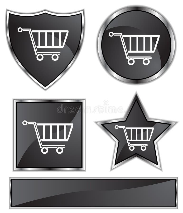 Download Black Satin - Shopping Cart Stock Vector - Illustration: 9622152