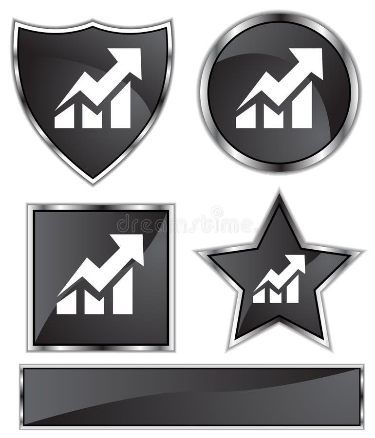 Download Black Satin - Stocks Up stock vector. Image of bills, finance - 9929819
