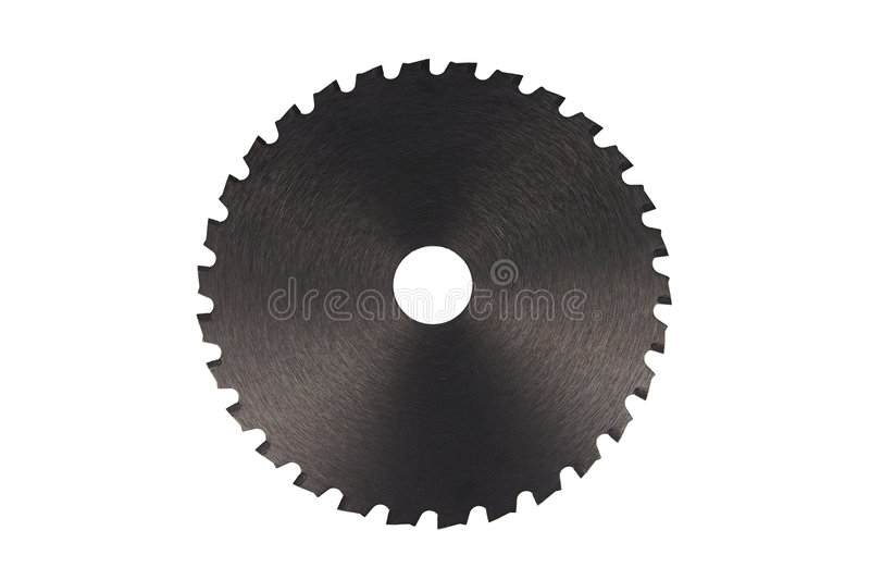 Black saw blade I royalty free stock images