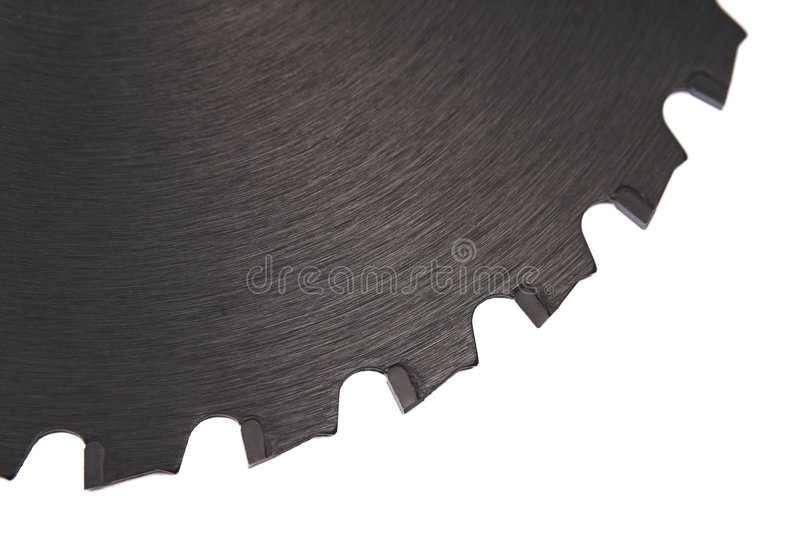 Black saw blade II stock photography