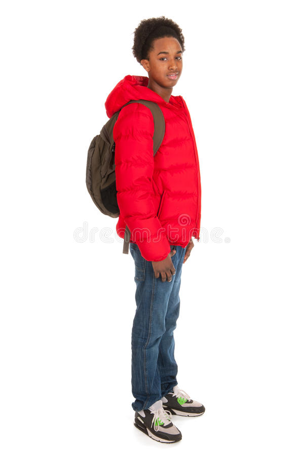 Black school boy stock images