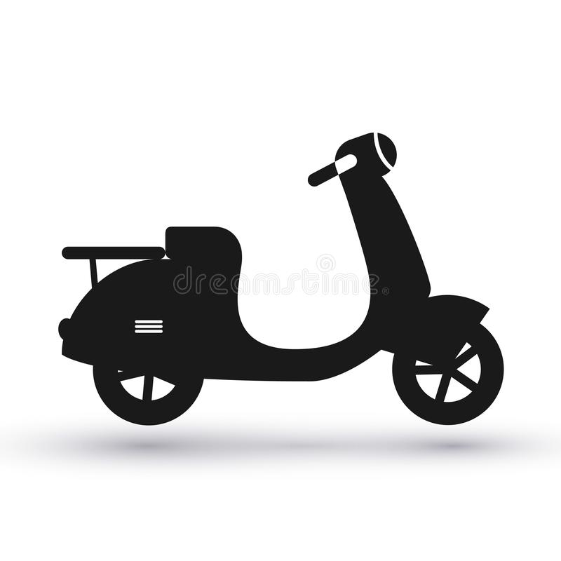 Black scooter icon vector illustration