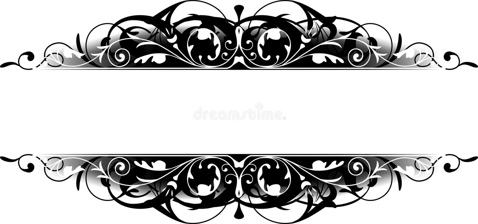 Black Scroll Border stock photo