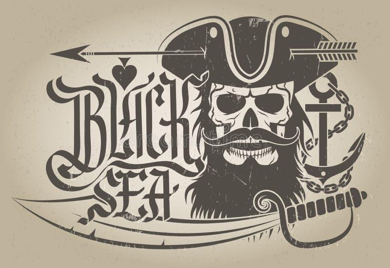 Black Sea royaltyfri illustrationer