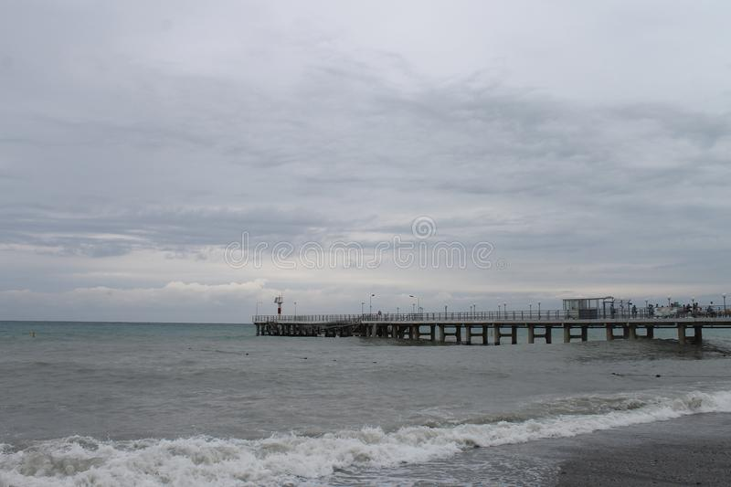 Black Sea. Coast in inclement weather stock image