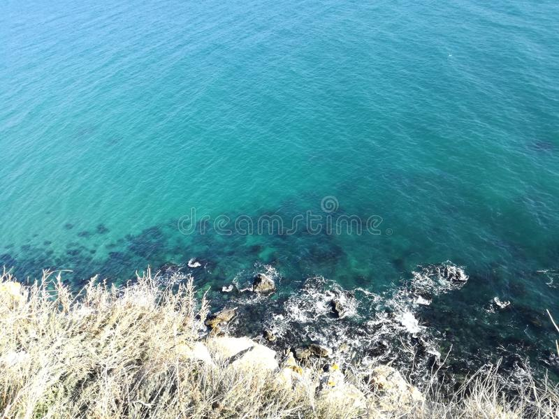 Black Sea Bulgaria Beutiful Kaliakra Blue Amazing royalty free stock image