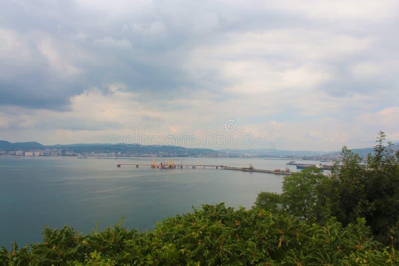 The black sea city of Novorossiysk stock photo