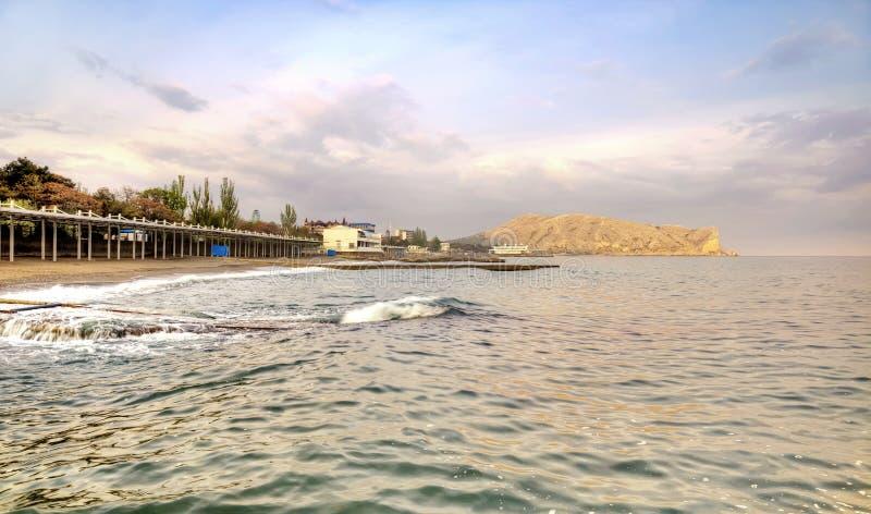 Download Black sea and city Sudak stock image. Image of municipal - 39510525
